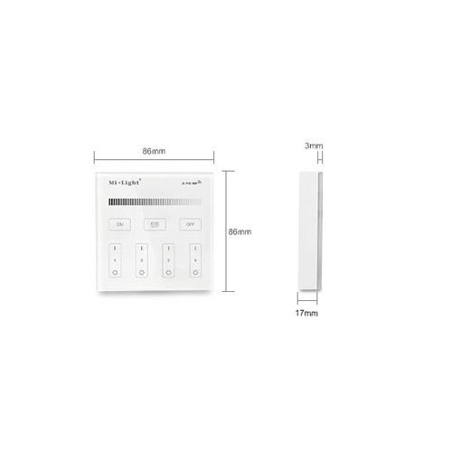 Mi-Light 2.4GHz LED Streifen Dimmer Touch Panel B1 Led-Planet Shop Wien