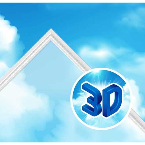 40W LED Panel Himmel 3D SKY Muster 625x625mm Kaltweiß GL2339 Led-Planet Shop Wien