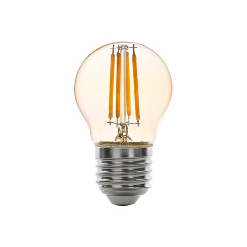 6W E27 LED FILAMENT Birne G45 360° Retrofit Glass Amber Neutral-, Warmweiß GL1344/GL1345 Led-Planet Shop Wien