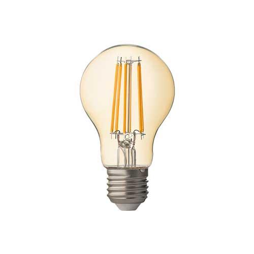 8W E27 LED FILAMENT Birne Dimmbar A60 360° Retrofit Glass Amber 2500K APN752725 Led-Planet Shop Wien