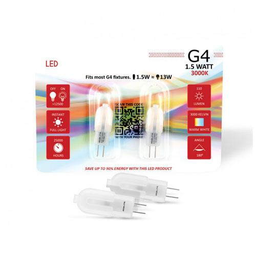 2 Stk. 1,5W G4 LED Lampe für Deckenstrahler Retrofit BUDGET PLUS 320° Neutral-, Warmweiß Led-Planet Shop Wien