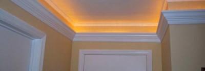 Zierprofile und Deckenbordüre als indirekte Beleuchtung mit LED Streifen