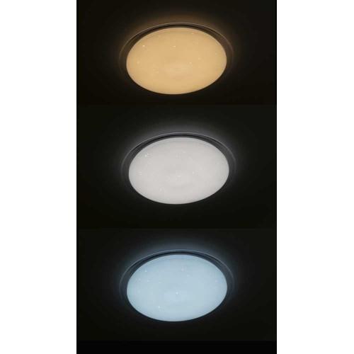 60W LED Deckenleuchte SMART CCT mit Fernbedienung Sternenhimmel 3000K-6500K UL1498