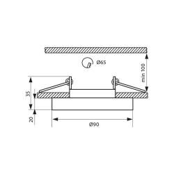 EINBAUSPOT KÖRPER DESIGN CRYSTAL Ø90*35mm für LED GU10 Rund Schwarz VL3874