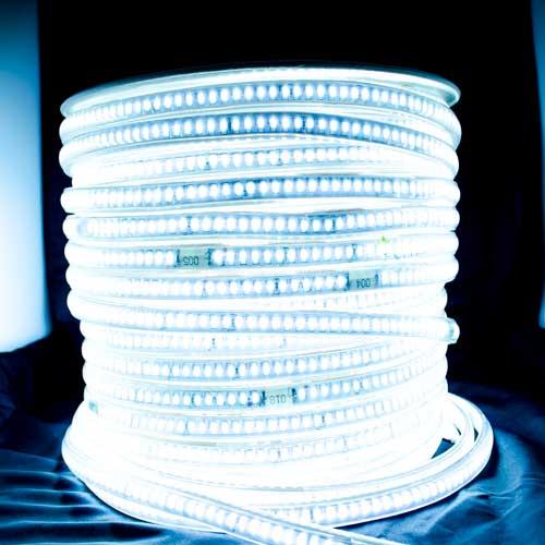 10W 144 SMD/m 2835 LED Flex Streife 230V 1m HI-LUMEN 1700Lm/m WASSERDICHT IP67 Kalt-, Warmweiß GL4531/GL4532 Led-Planet Shop Wien