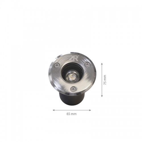 1W LED Bodenbeleuchtung CARO 12V DC Neutralweiß GL8305 Led-Planet Shop Wien