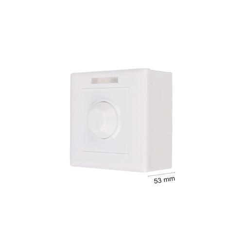 Wand Lichtschalter Dimmer 12V DC 1Weg Fernbedienung Weiß GL6213