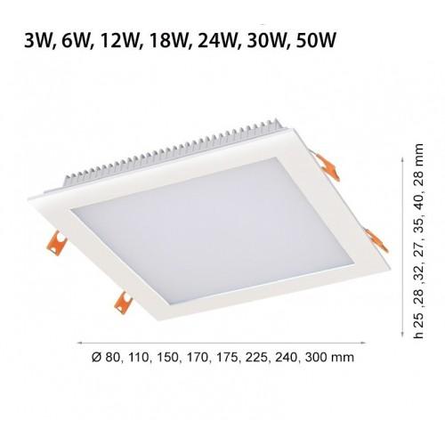 24W LED Einbaumodul 230V 3 JAHRE GARANTIE QUAD IP44 Neutralweiß GL2125