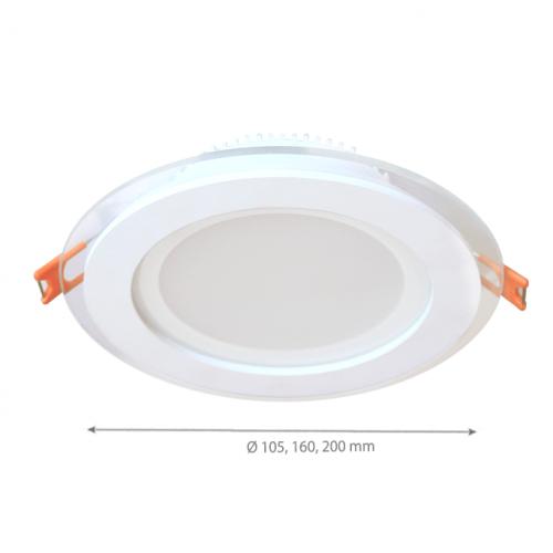 6W LED Einbauleuchte GLAS PREMIUM 230V Rund Neutralweiß GL2154