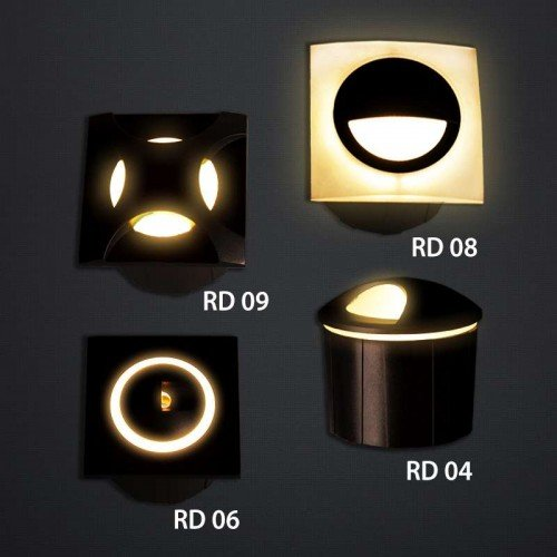 3W LED Treppenleuchte Premium Design RD09 Neutralweiß GL8320 Led-Planet Shop Wien