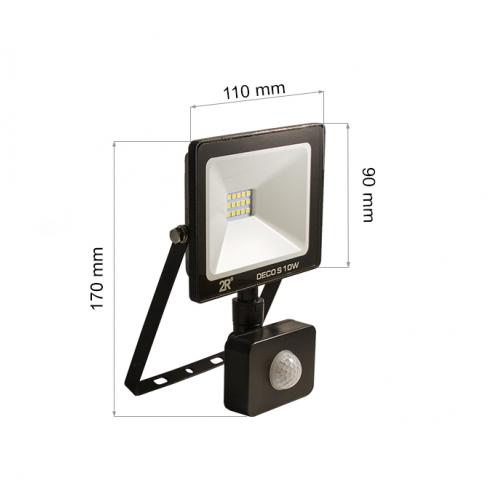 10W LED SMD Fluter mit Bewegungsmelder DECO PREMIUM Kaltweiß