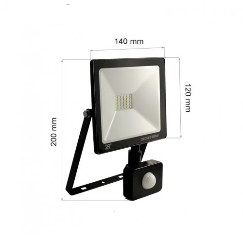 20W LED SMD Fluter mit Bewegungsmelder DECO PREMIUM Kaltweiß GL5504 Led-Planet Shop Wien