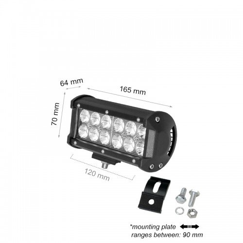 36W LED AUTO SCHEINWERFER LBL 12V BAR Kaltweiß GL9301