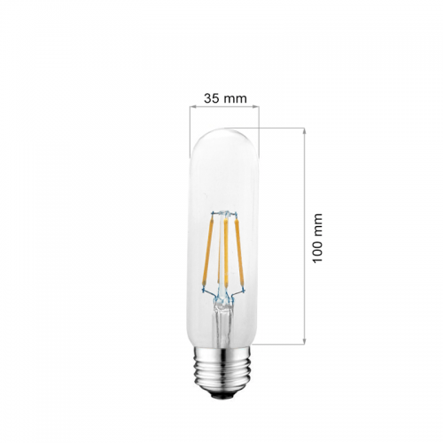 4W E27 LED FILAMENT T10 360° Glass ULTRA Warmweiß GL1331