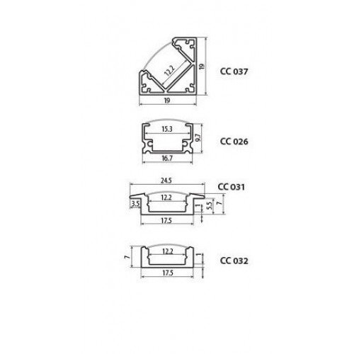Endkappen LED Profil PDS GL00081