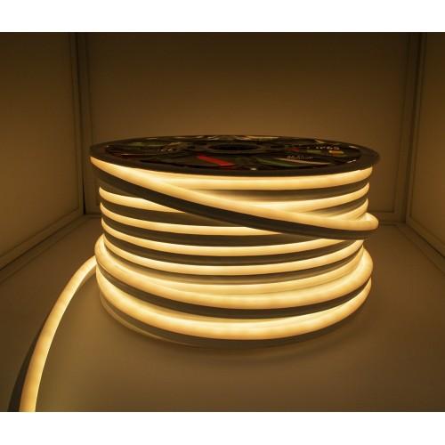 120SMD/m LED FLEX NEON 1m 12W/m PREMIUM 230V IP65 Wasserdicht Gelb GL4604