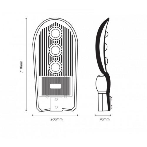 150W LED Straßenlampe GRANADA PREMIUM 3 JAHRE GARANTIE TAGESLICHT GL9127