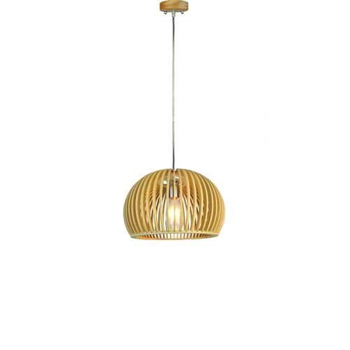 Holz Pendelleuchte für LED E27 Design Hängeleuchte UL40531