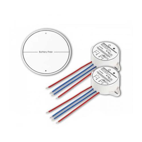 Funk LED Lichtschalter 2Weg Batteriefrei Piezo LED Weiß UL8230
