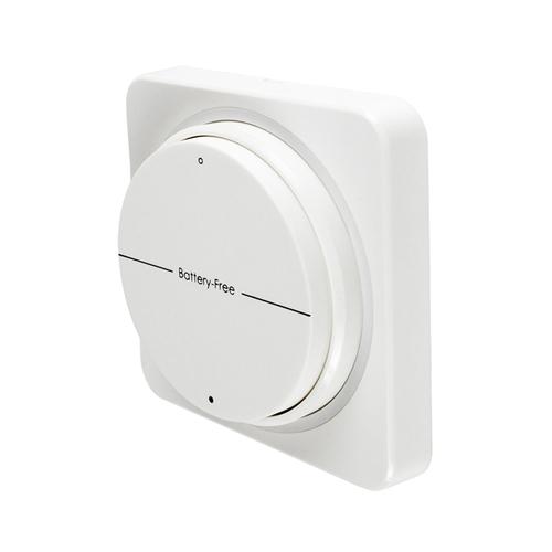 Wandhalterung für Funk LED Lichtschalter Batteriefrei Weiß UL8231