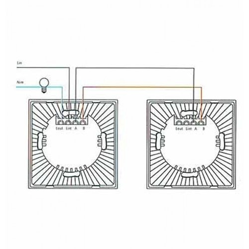 Design Wand Lichtschalter 1Weg Wechselschalter LED Glas UL8360