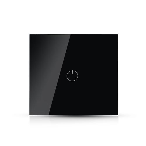 Design Wand Lichtschalter 1Weg LED WLAN SMART ALEXA GOOGLE HOME  Glas Schwarz UL8423