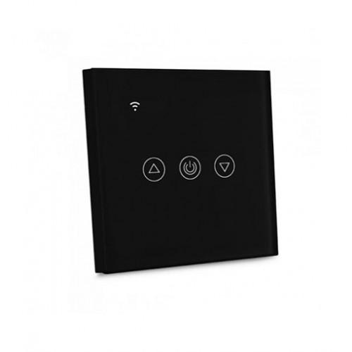 Design Wand Lichtschalter DIMMER LED WLAN SMART ALEXA GOOGLE HOME  Glas Schwarz UL8432