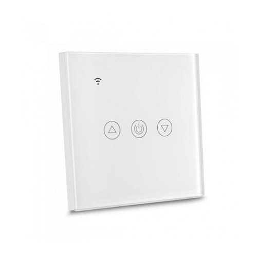 Design Wand Lichtschalter DIMMER LED WLAN SMART ALEXA GOOGLE HOME  Glas Weiß UL8433