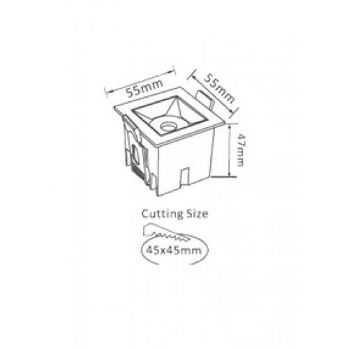 4W LED Deckenleuchte SAMSUNG PREMIUM 12° Kalt-, Neutral-, Warmweiß