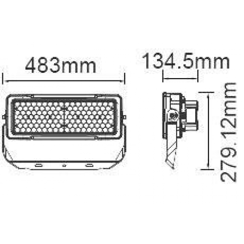 250W LED Strahler SAMSUNG LED MeanWell IP65 SPORT PRO 120° Kalt, Neutralweiß UL0500/ UL0494