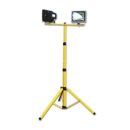 Tripod Stativ für LED Baustrahler Gelb