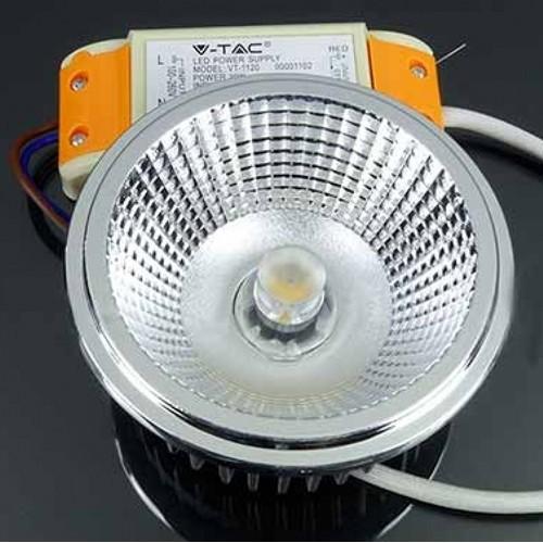 20W AR111 LED Spot 230V DC 20° Kalt-, Neutral-, Warmweiß UL1245/UL1244/UL1243