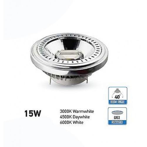 15W AR111 LED Spot 12V DC 40° Kalt-, Neutral-, Warmweiß UL4255/UL4256/UL4257 Led-Planet Shop Wien