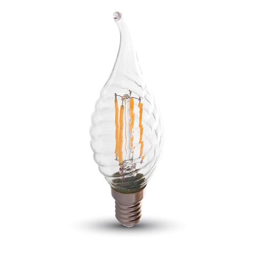 4W LED E14 FILAMENT Kerze DIMMBAR für Kronleuchter und Kristalllüster Flame Deco Warmweiß UL43881
