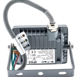 10W LED Fluter SAMSUNG 5 Jahre Garantie IP65 Grau Kalt-, Neutral-, Warmweiß