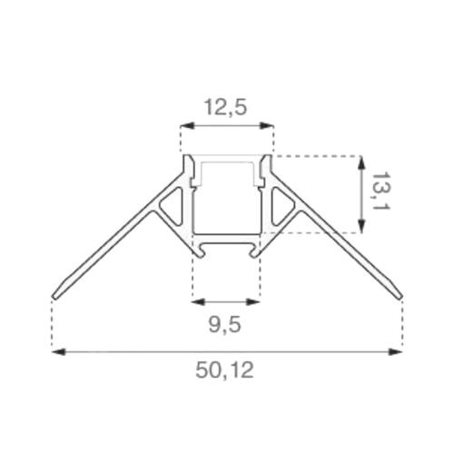 2 Meter SET Alu Profil Ecke Außen PRO SPECIAL Unterputz Aluminium UL3361 Led-Planet Shop Wien
