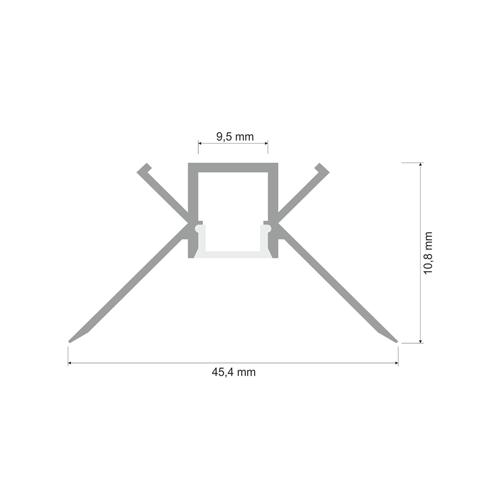 2 Meter SET Alu Profil Ecke Innen PRO SPECIAL Unterputz Aluminium UL3362 Led-Planet Shop Wien