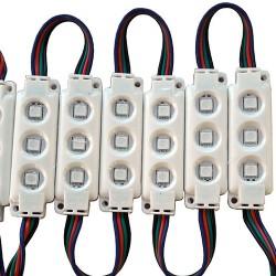 10 x Hi Lumen LED Module SET SMD 5050 IP65 RGB UL5134