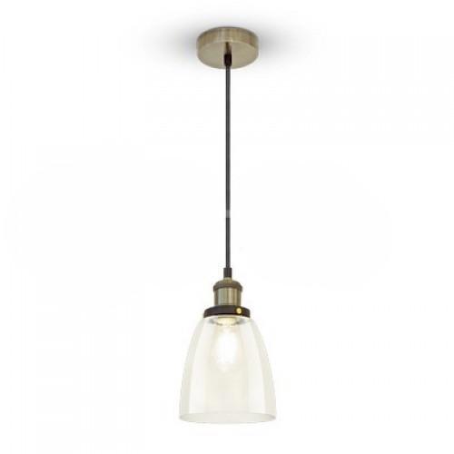 Glas Pendelleuchte Vintage für LED E27 Design Hängeleuchte UL3735