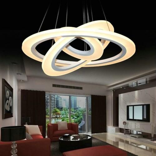 70W Design LED Luster 3 Stufen Dimmbar 3 Jahre Garantie Hängeleuchte Warmweiß UL3904
