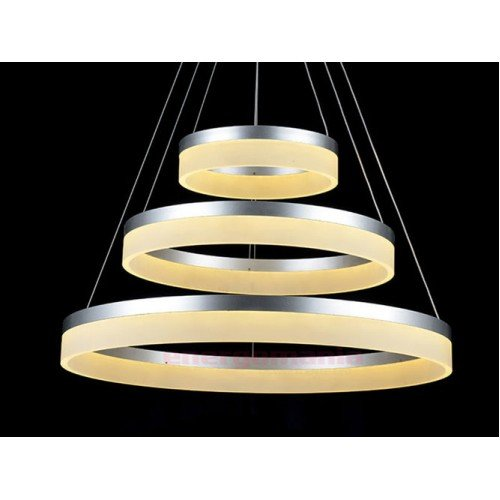 80W Design LED Luster 3 Stufen Dimmbar 3 Jahre Garantie Hängeleuchte Warmweiß UL3906