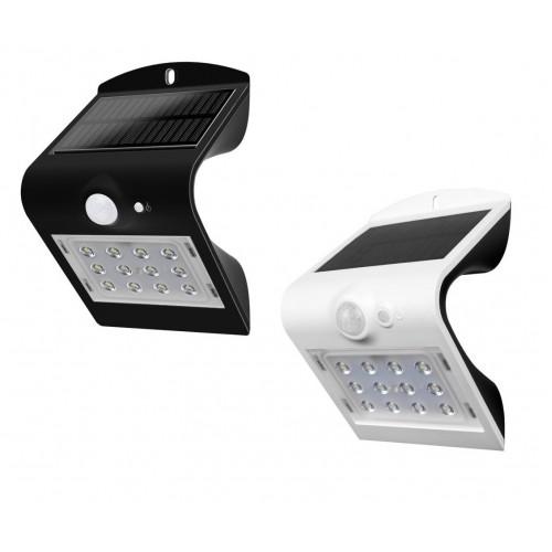 1,5W LED SOLAR Wandbeleuchtung PREMIUM mit Bewegungsmelder IP65 Tageslicht Weiß oder Schwarz Led-Planet Shop Wien