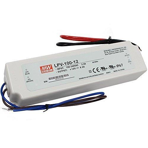 100W MEAN WELL PREMIUM Netzteil IP67 Wasserdicht LPV100CV