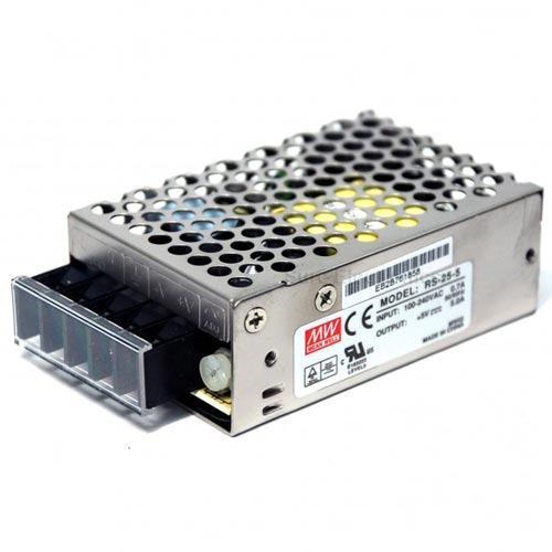 25W MEANWELL Netzteil C.V.  5V-48V RS25CV