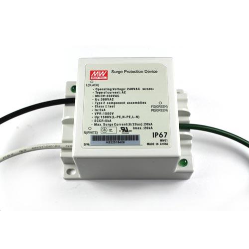 LED Überspannung Sicherung MeanWell IP67 max20kA SPD20-240P Led-Planet Shop Wien