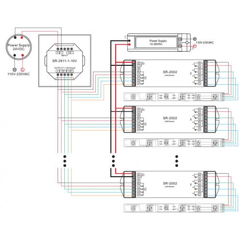 PWM RGB/ RGBW CONTROLLER EINBAUMODUL 4x5A PREMIUM SR2811 Led-Planet Shop Wien