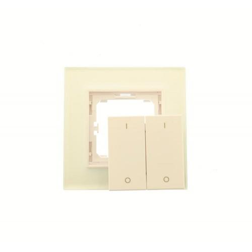 LED Dimmer Sender Wandschalter Touch 2 Zonen SR2833K2 GL6322 Led-Planet Shop Wien