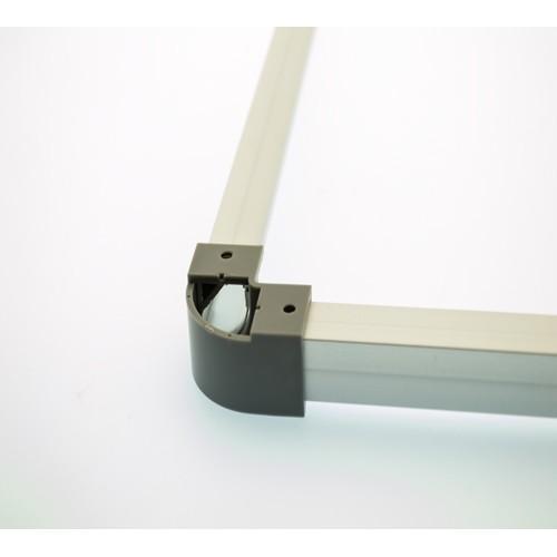 2 Adapter Ecke SET LED Aluprofil 45°  Grau APN204KK