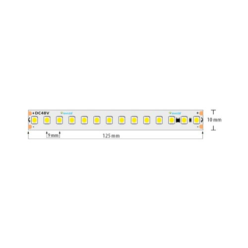 112 SMD/m LED Streife 1m 870LM/M 48V DC IP67 Wasserdicht Kalt-,Neutral-,Warmweiß GL4413/GL4414/GL4415